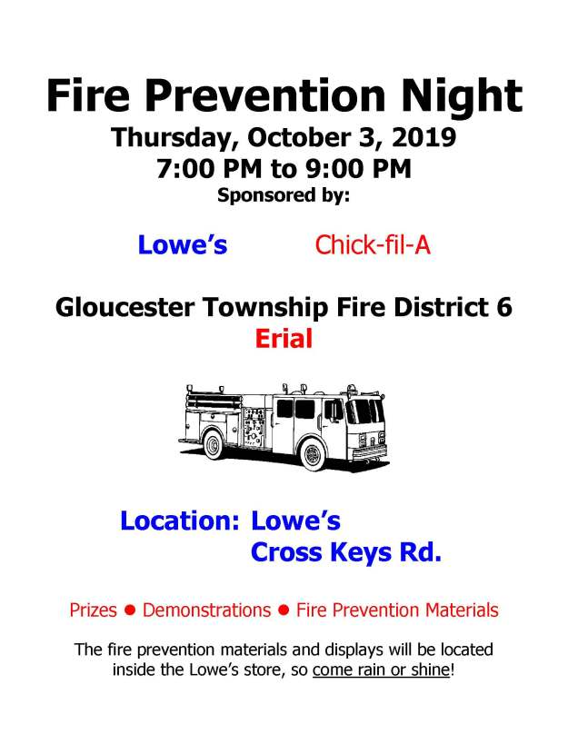 Fire Prevention Night 2019 Flyer Without Logo